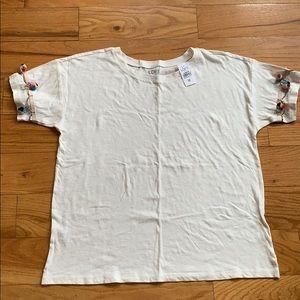 Loft PomPom T Shirt